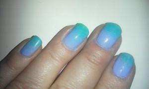 Blue Hombre Nails