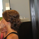 Bridesmaid up-do