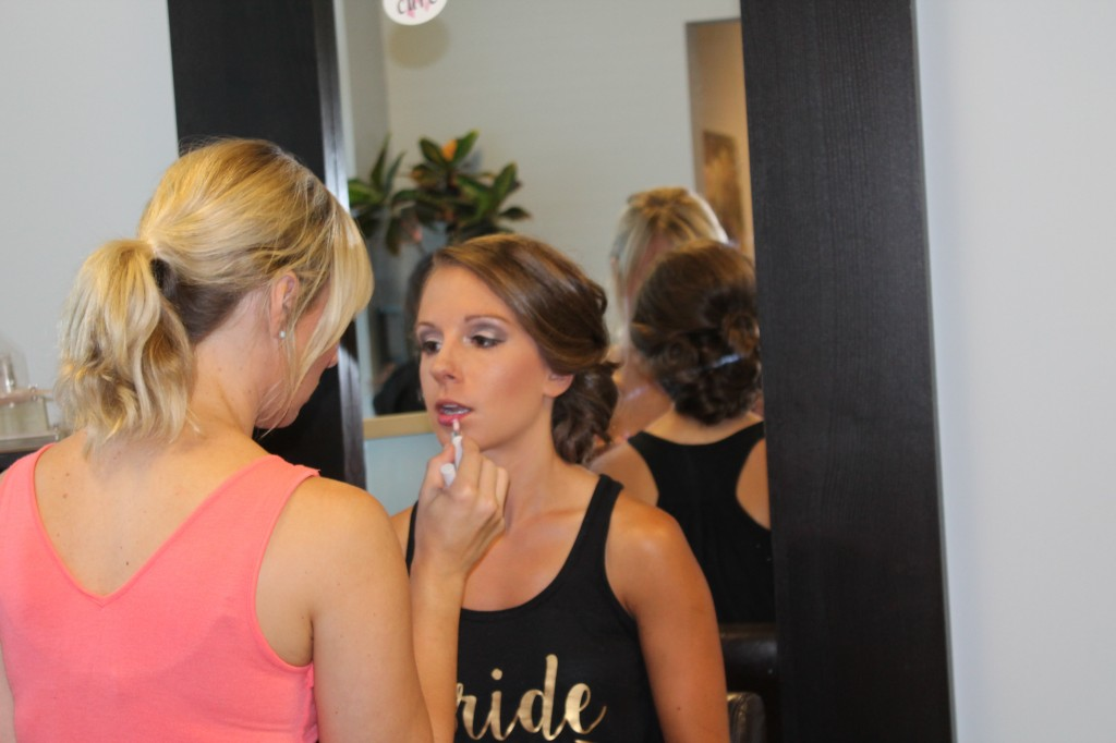Bridesmaid make-up by Allison